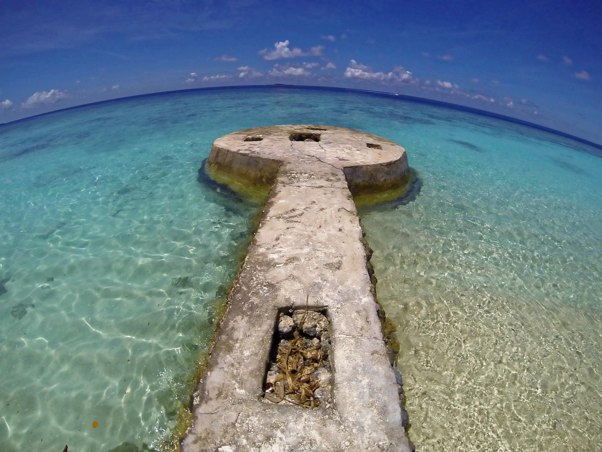 Betonsteg - Insel Bandos