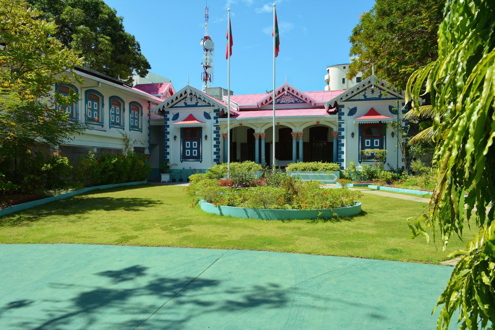 """Ehemaliger Präsidentenpalast """"Mulee Aage"""" -Insel Male"""