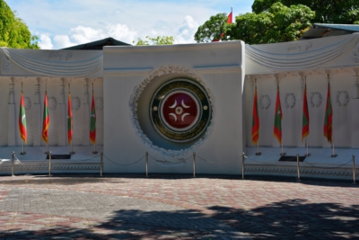 Denkmal für die Opfer eines Terroranschlags durch tamilische Guerillas - Insel Male