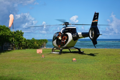 Helikopter von Zil Air - La Digue
