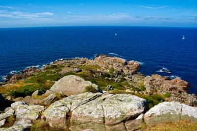 Blick vom Kullaberg über den Öresund