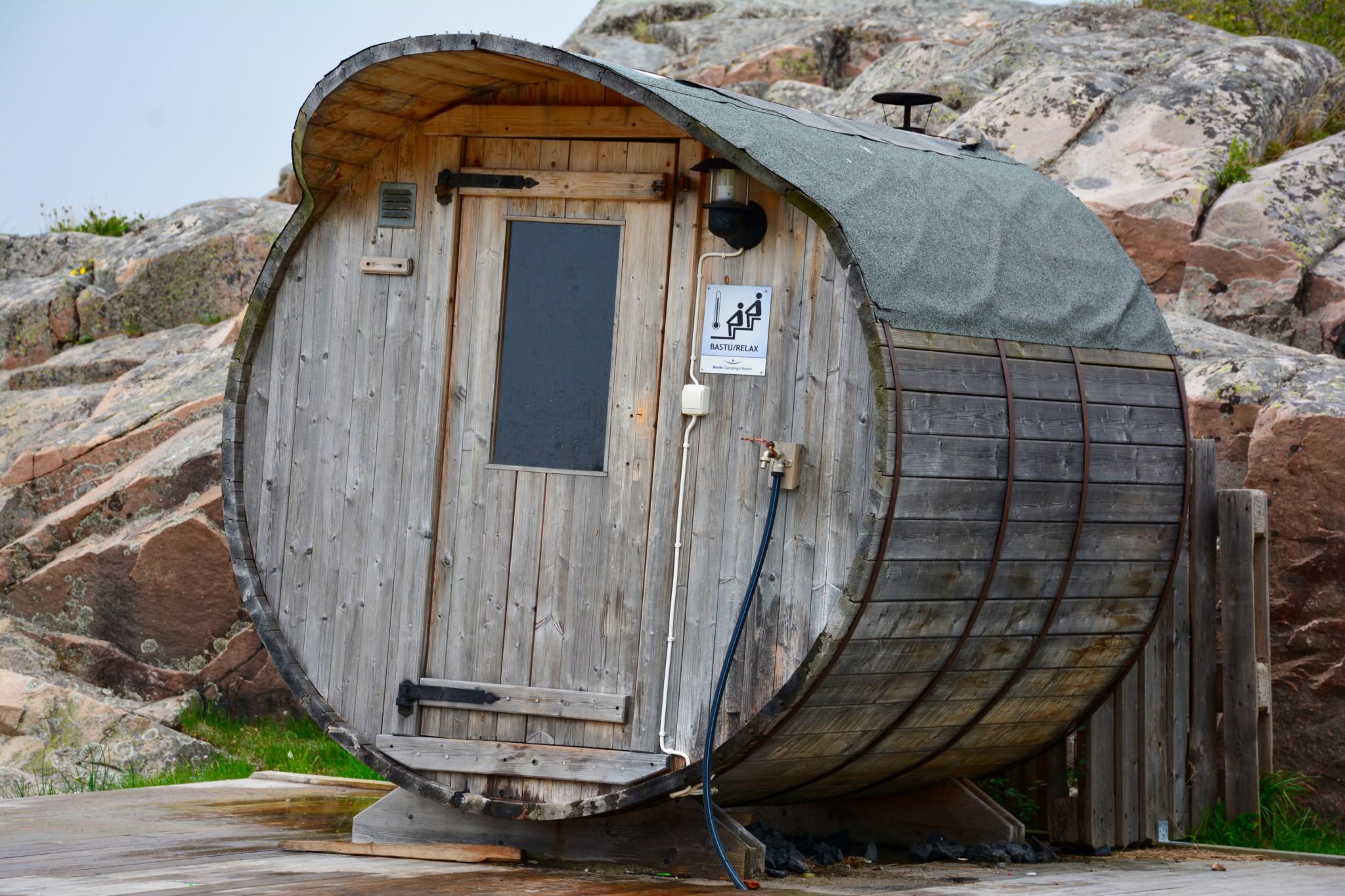 Schwedische Sauna im Fass - Grebbestad