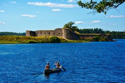 Schlossruine Kronoberg in Växjö, Schweden