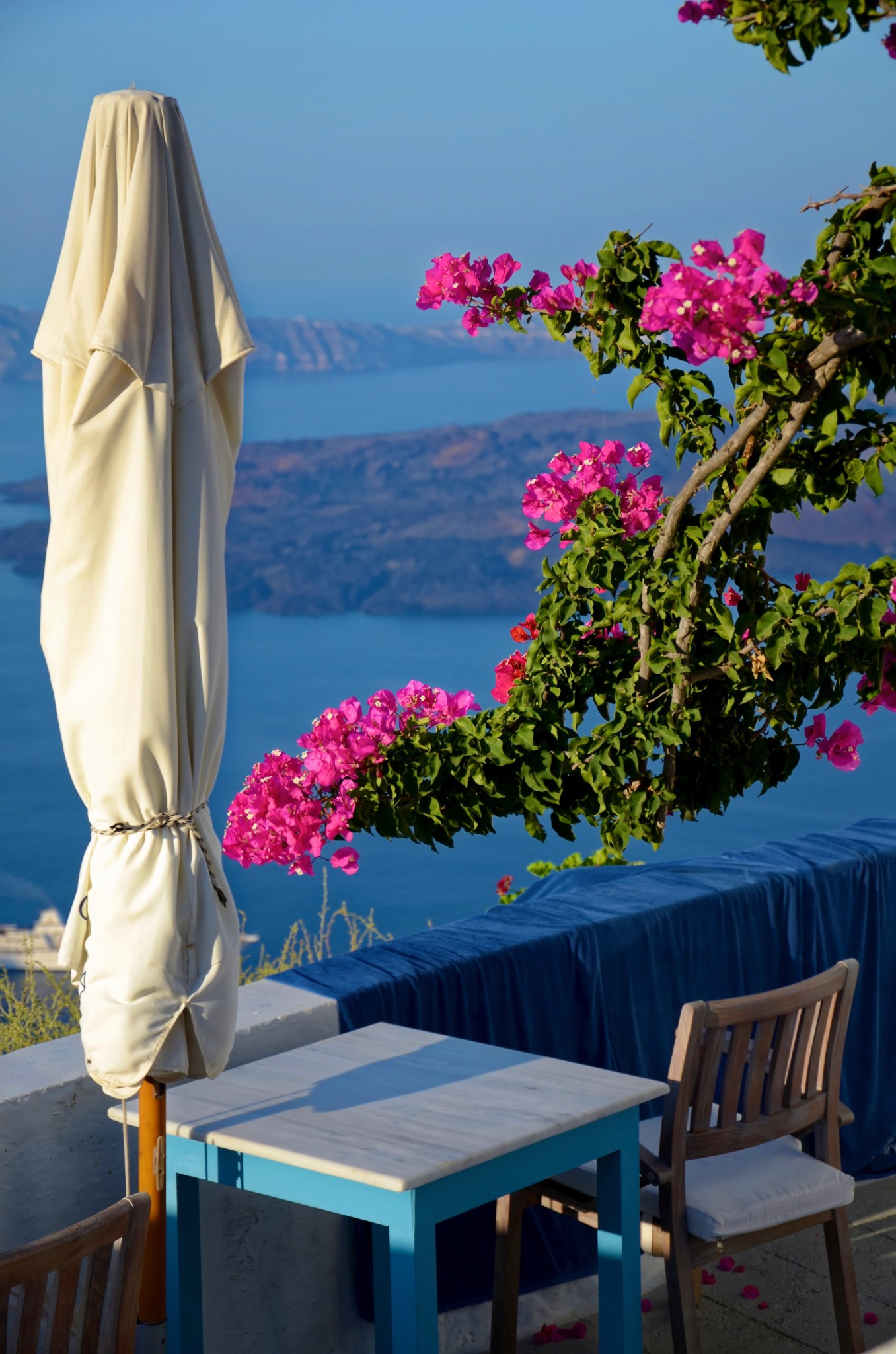 Idylle auf dem Balkon - Imerovigli - Santorin