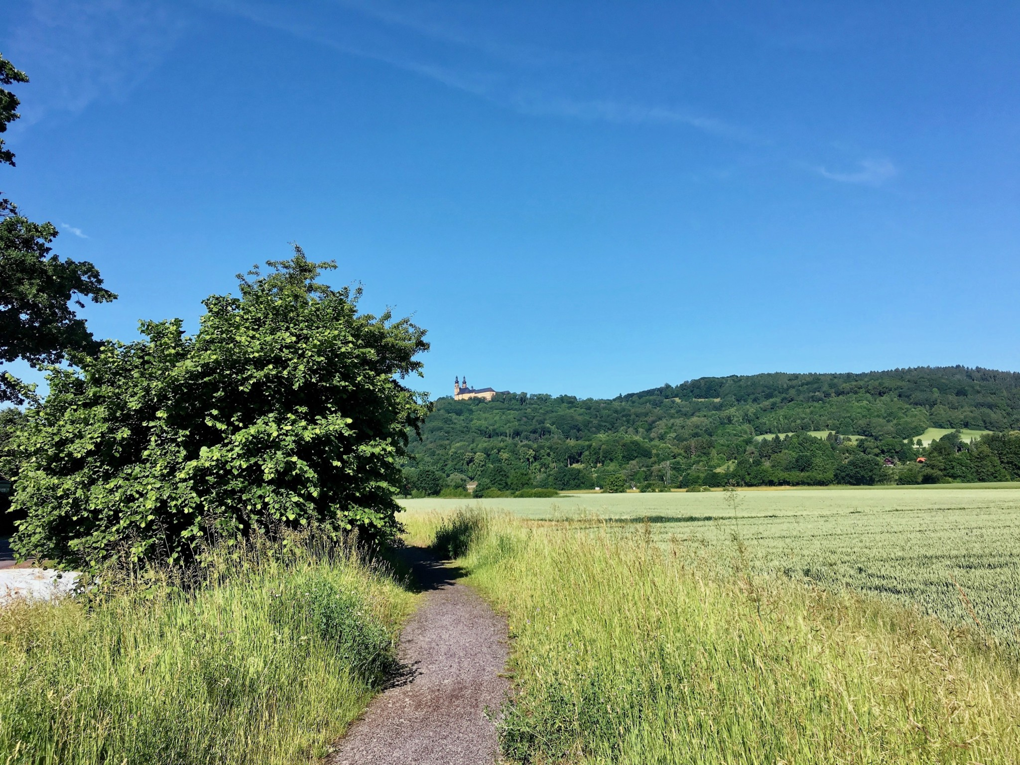 Blick nach Kloster Banz