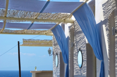 Restaurant am Strand - Santorin