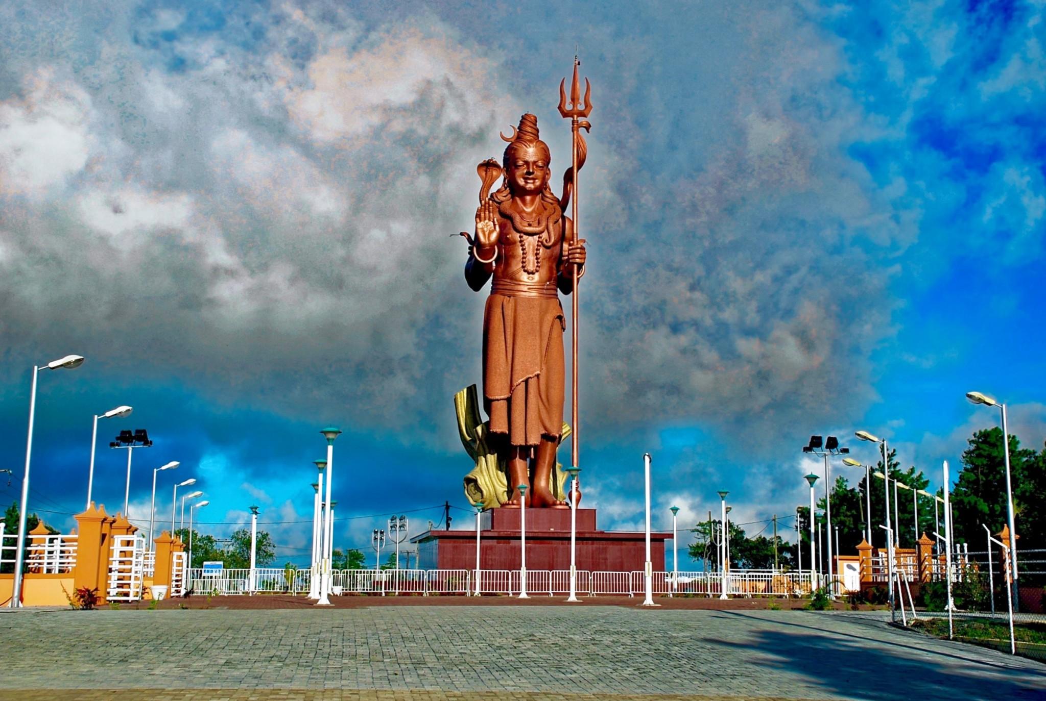 Shiva-Statue am Grand Bassin, Mauritius