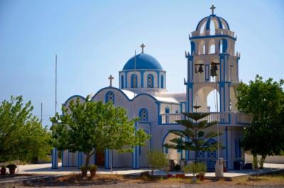 Kapelle in Kamari - Santorin - Griechenland