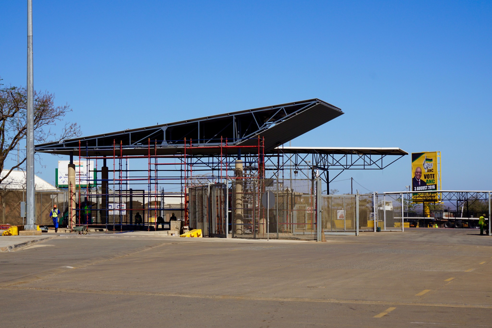 Grenzübergang von Swaziland nach Südafrika