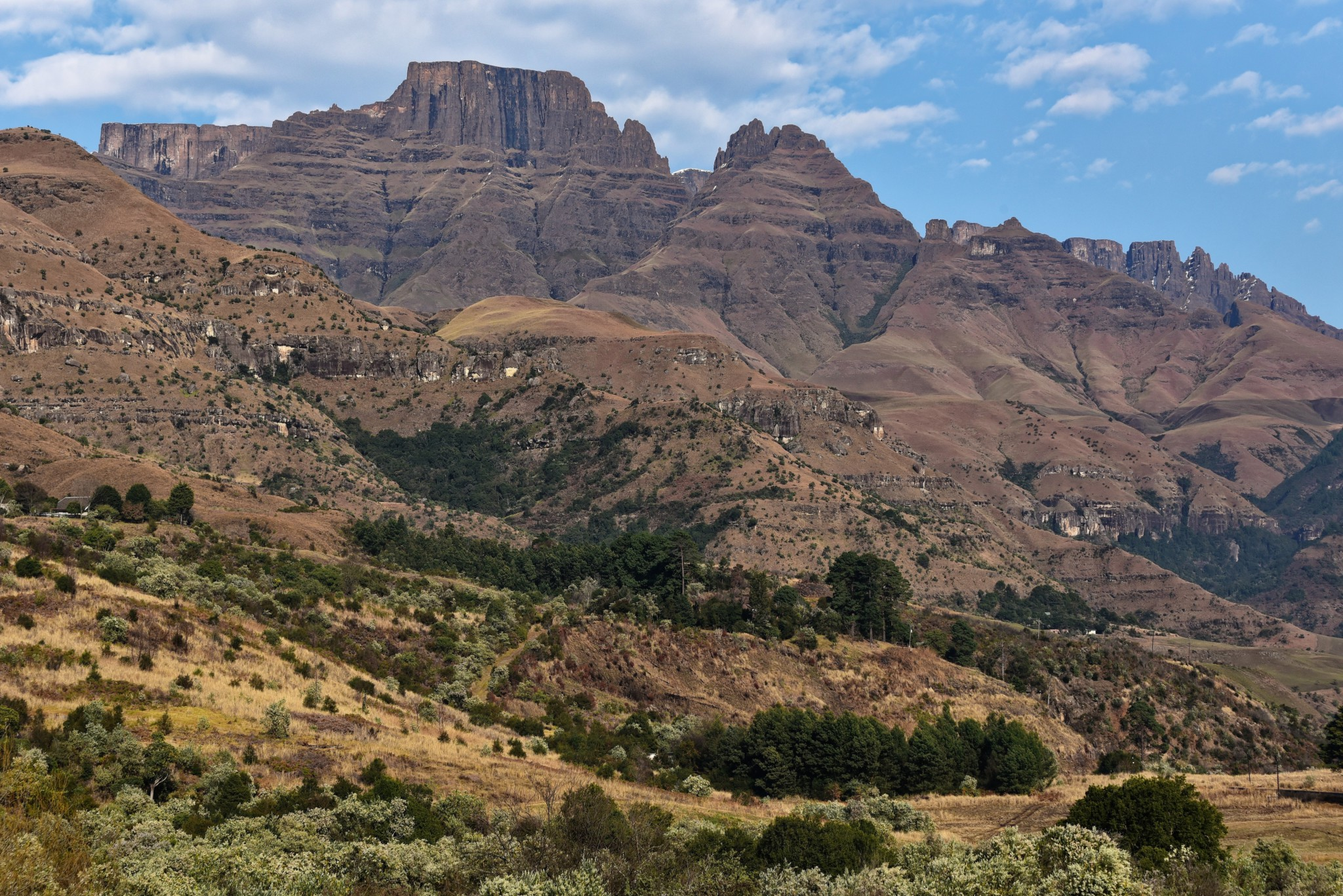 Atemberaubender Blick auf die Gipfel der Drakensberge