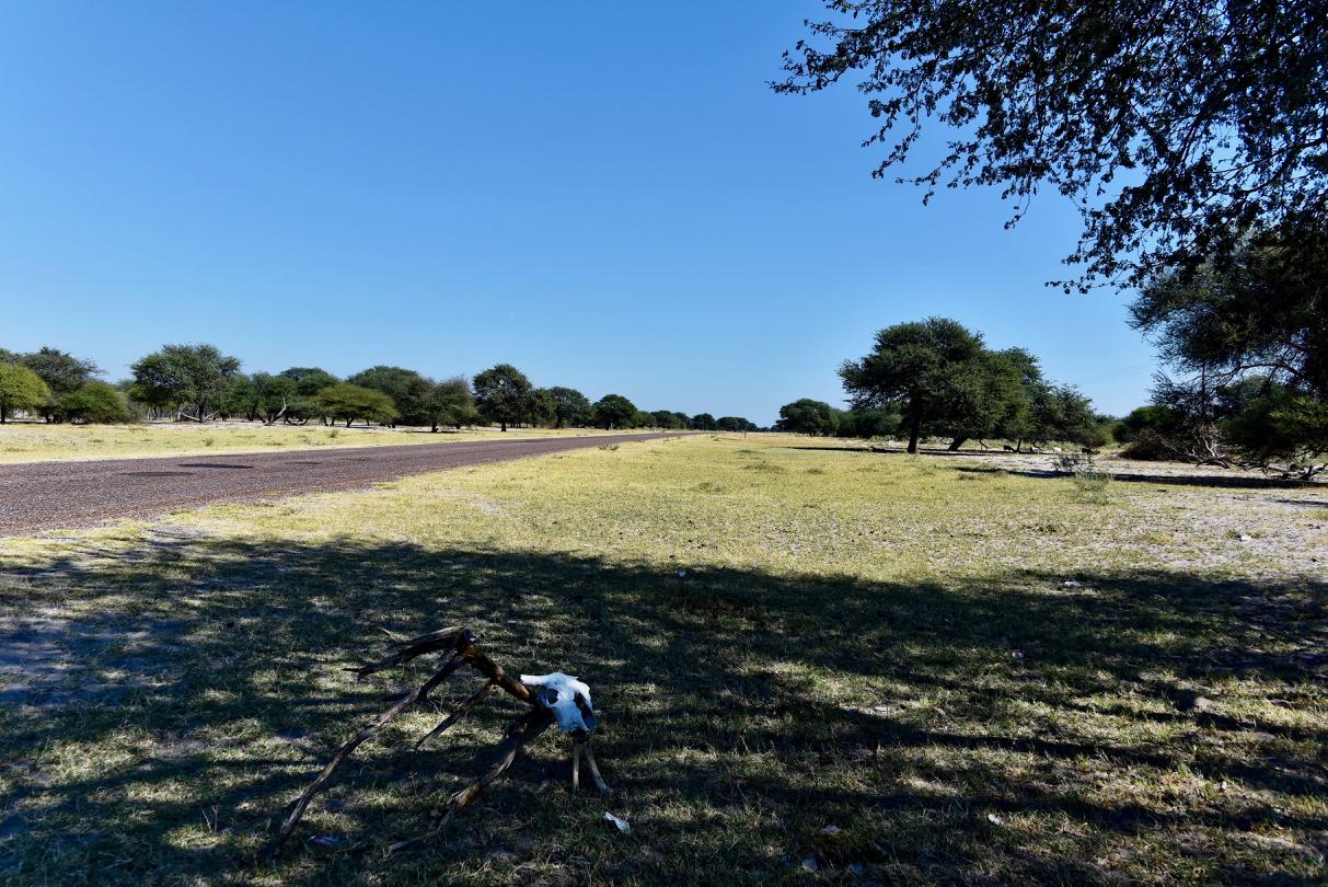 Trans Kalahari Highway in Botswana