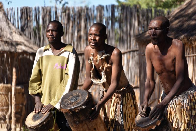 Traditional Village am CAMP KWANDO - Namibia
