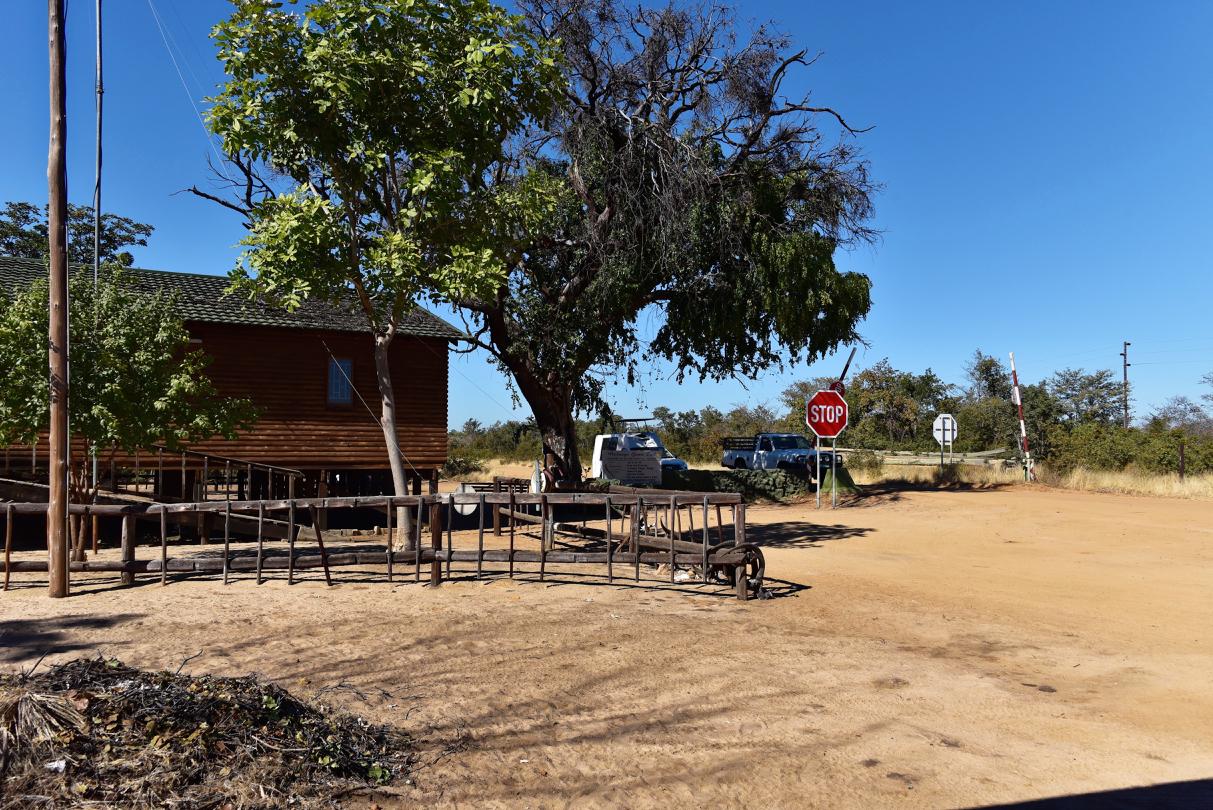 Eingang zum Mahango Gamepark - Namibia