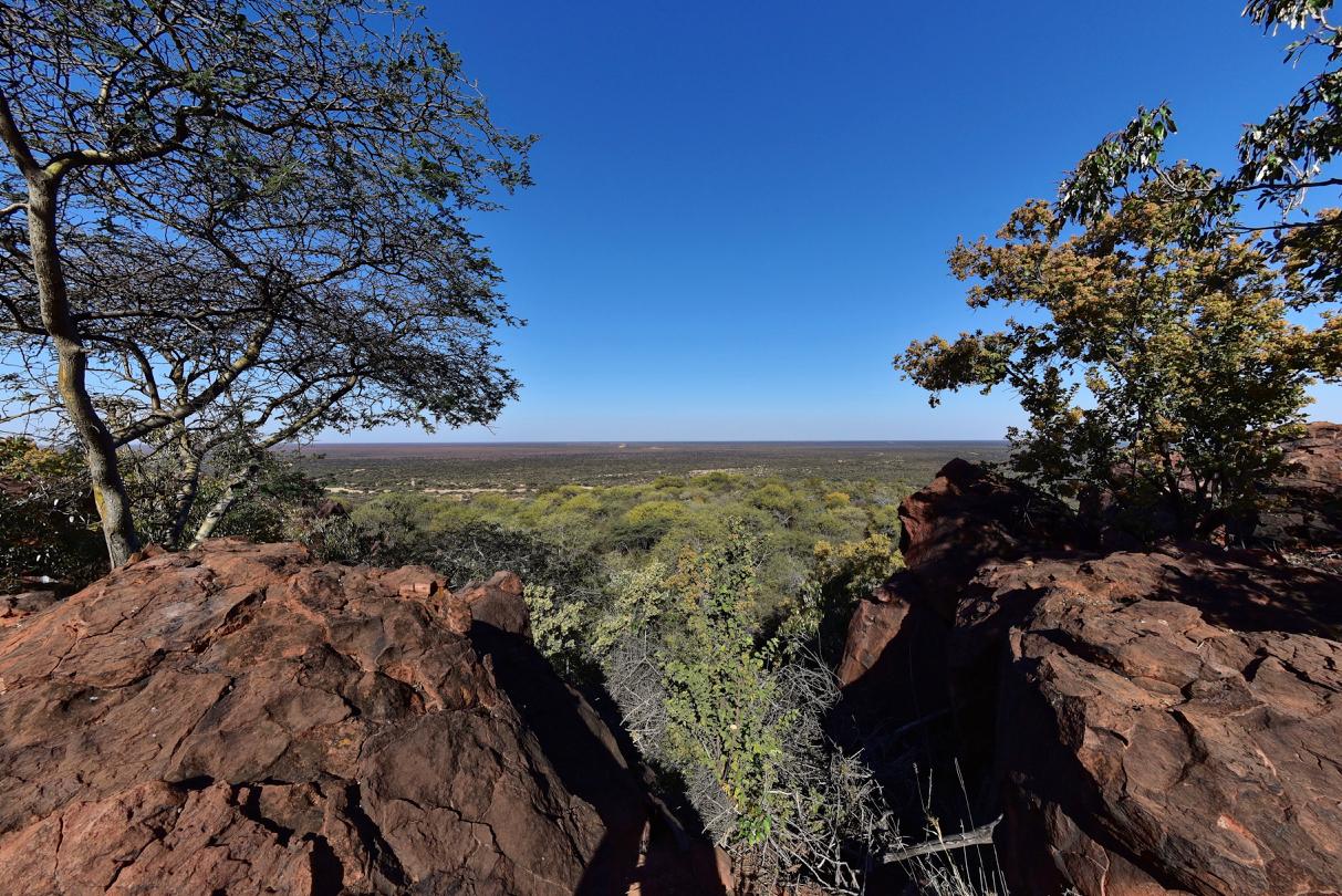 Blick zur Kalahari Wüste