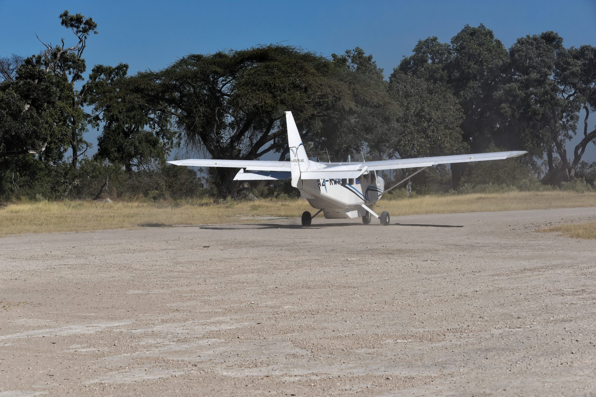 Flugplatz - Moremi Crossing - Okavango Delta - Botswana