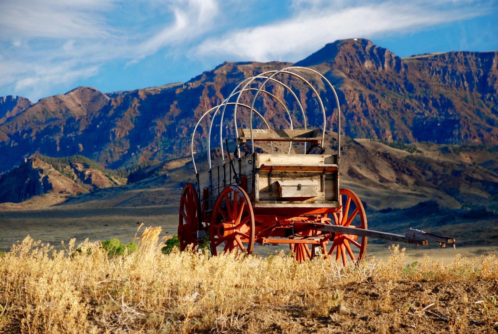 Kutsche in der Prärie - Cody - Wyoming