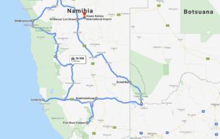 Route Namibia 2019
